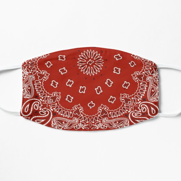 red bandana pattern Mask