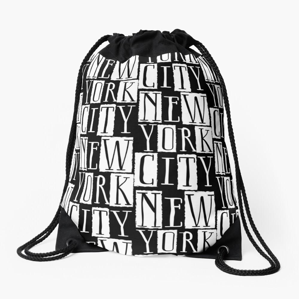 New York City Funky Modern Design Drawstring Bag
