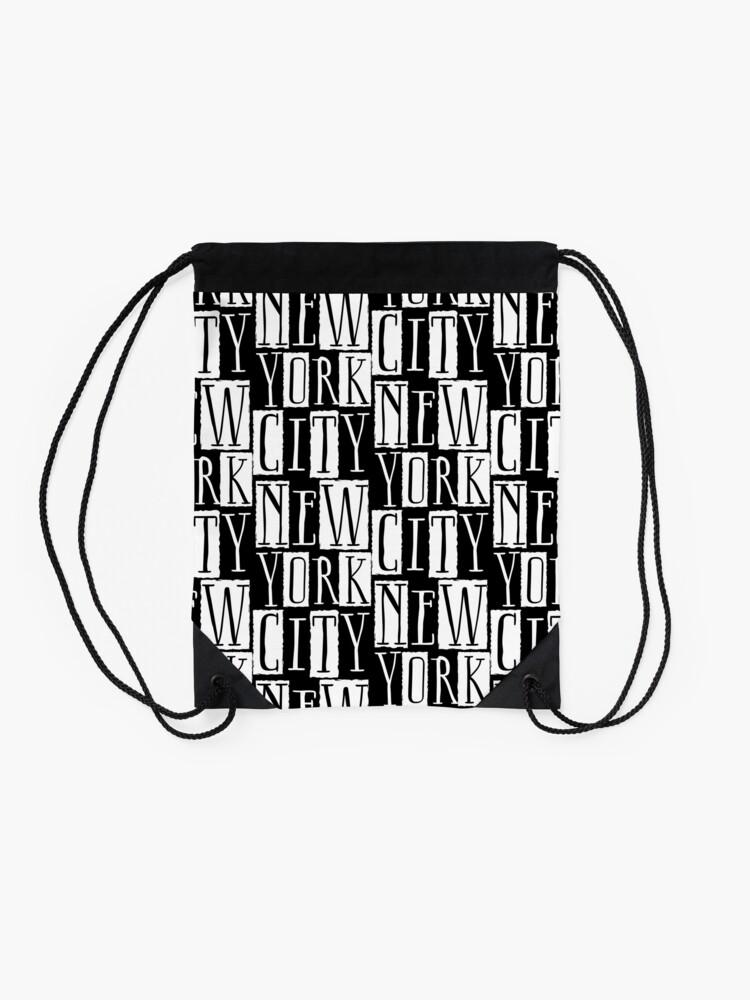 Alternate view of New York City Funky Modern Design Drawstring Bag