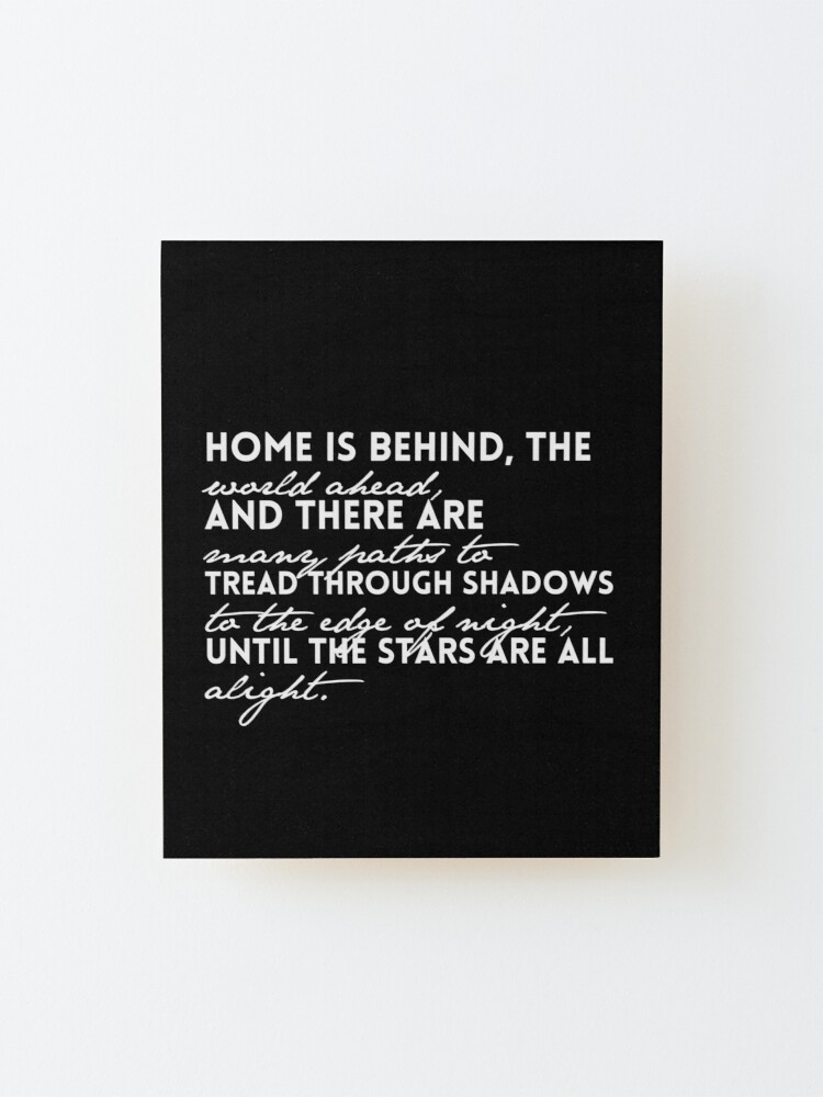Alternate view of Home is Behind Mounted Print