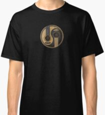 Old and Worn Acoustic Guitars Yin Yang Classic T-Shirt