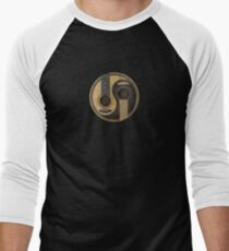 Old and Worn Acoustic Guitars Yin Yang Men's Baseball ¾ T-Shirt