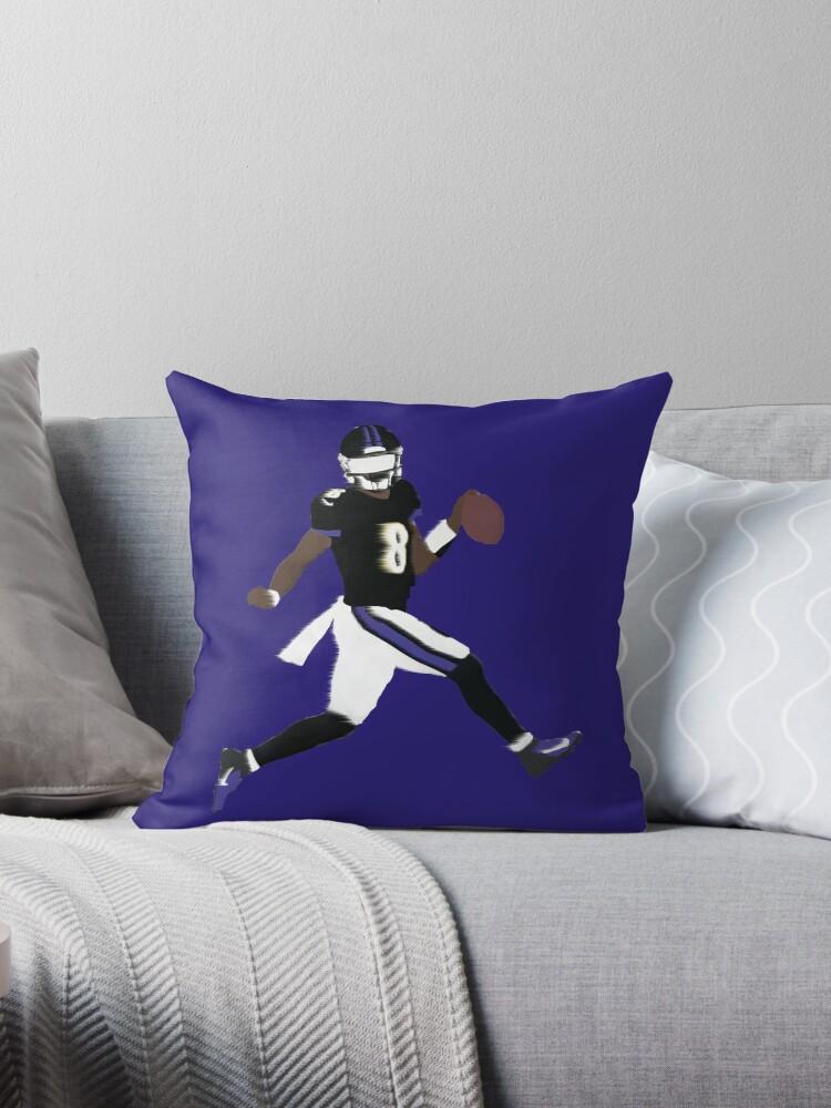 Lamar Jackson Ravens Throw Pillow By Glazedesigns Redbubble