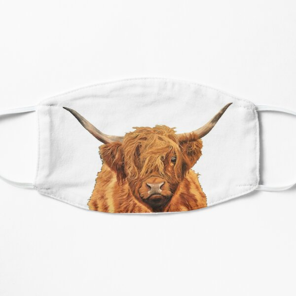 Highland Cow - Looking at You - Mask Flat Mask