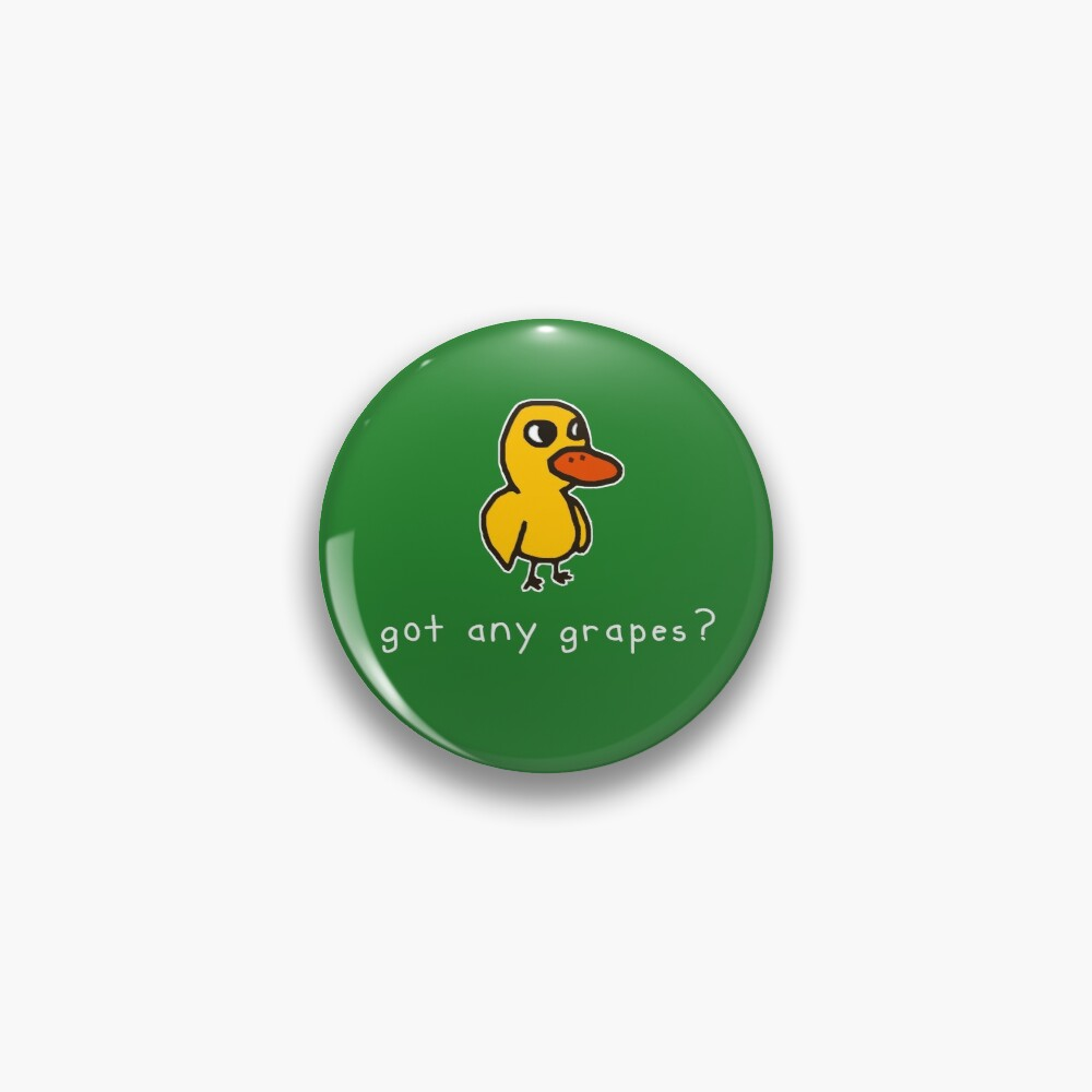 got any grapes? (alt. for dark colored materials) Pin