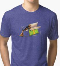 Surprise Me Airedale Tri-blend T-Shirt