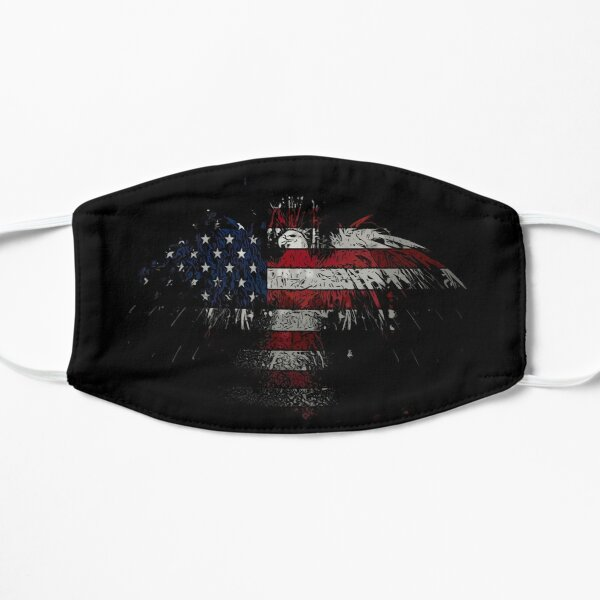 USA flag eagle Flat Mask