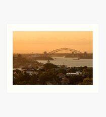 Golden Sydney Harbour Art Print