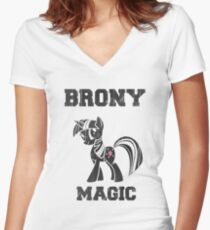 BRONY Twilight Sparkle Women's Fitted V-Neck T-Shirt
