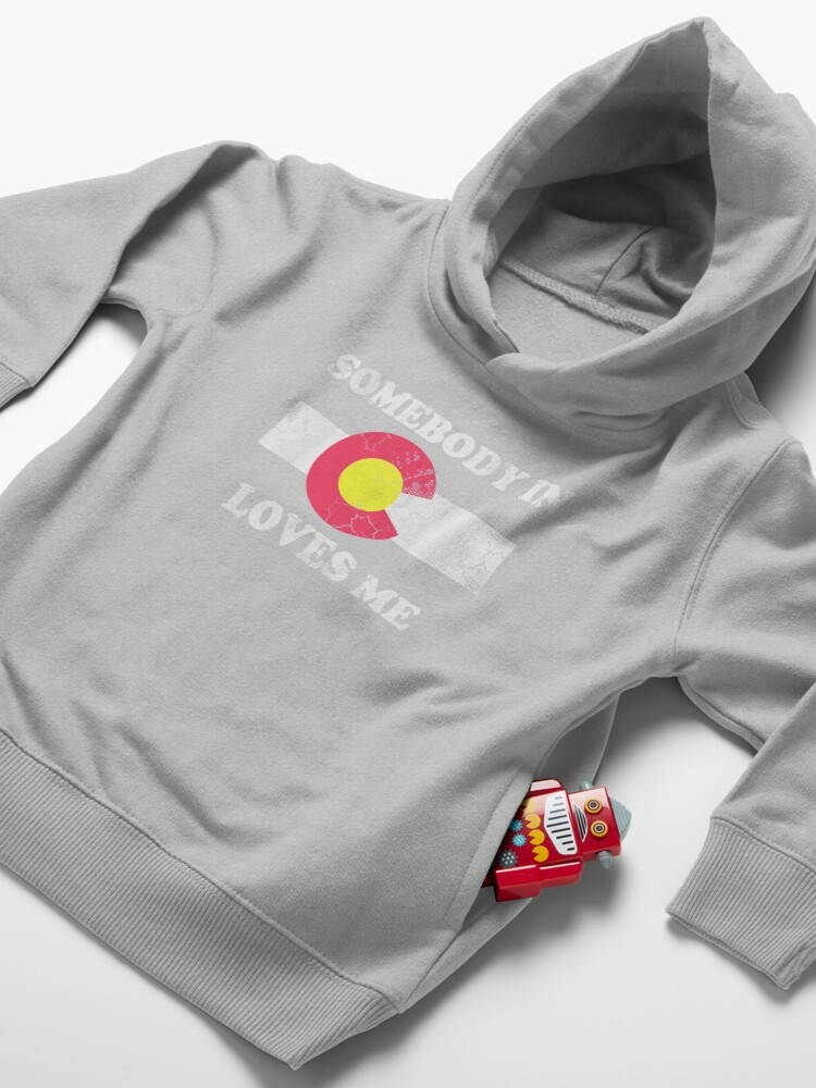 Alternate view of Somebody In Colorado Loves Me Toddler Pullover Hoodie