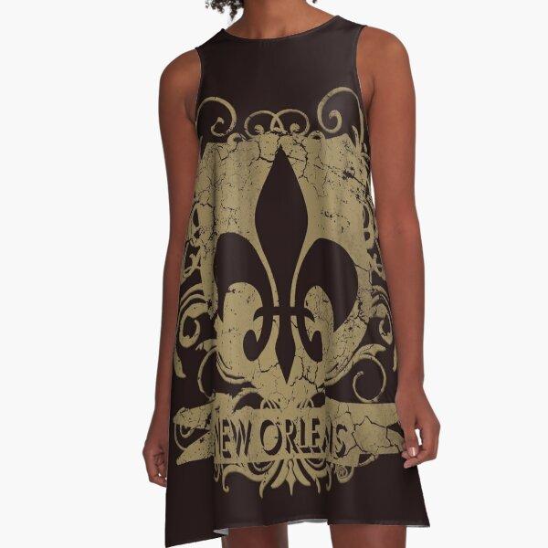 New Orleans Crest Fleur De Lis Louisiana  A-Line Dress