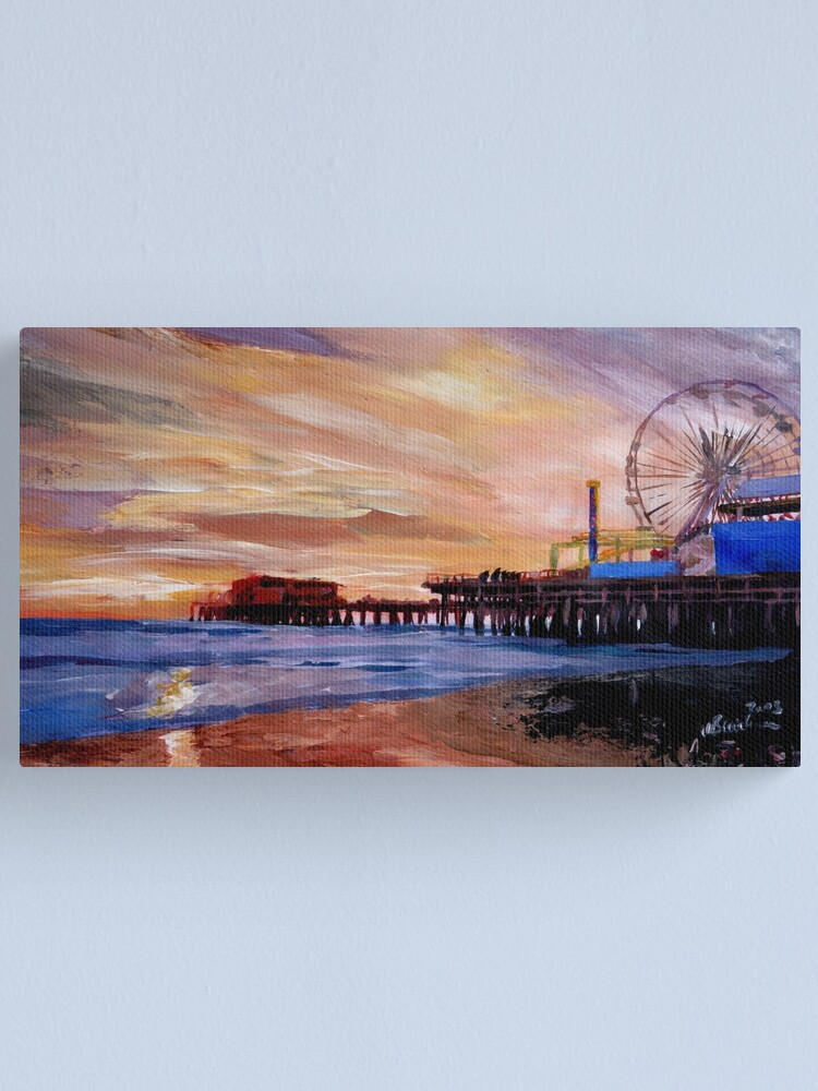 Alternate view of Santa Monica Pier at Sunset Canvas Print