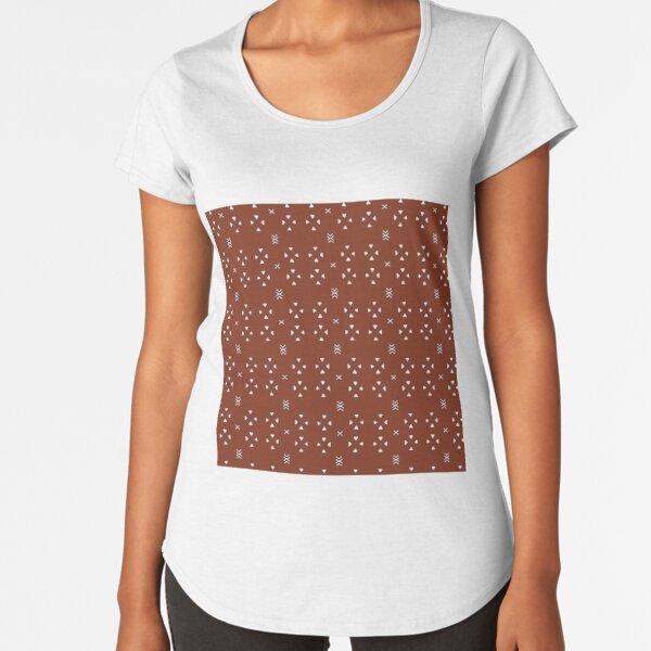 Mudcloth rust  Premium Scoop T-Shirt