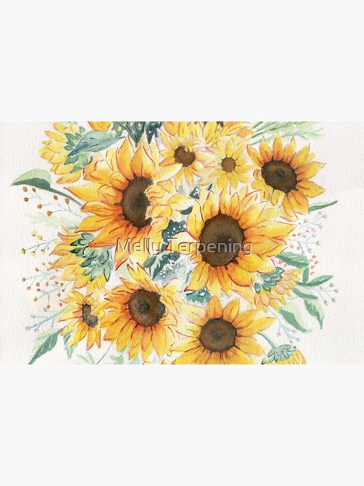 Loose Watercolor Sunflowers by MellyTerp
