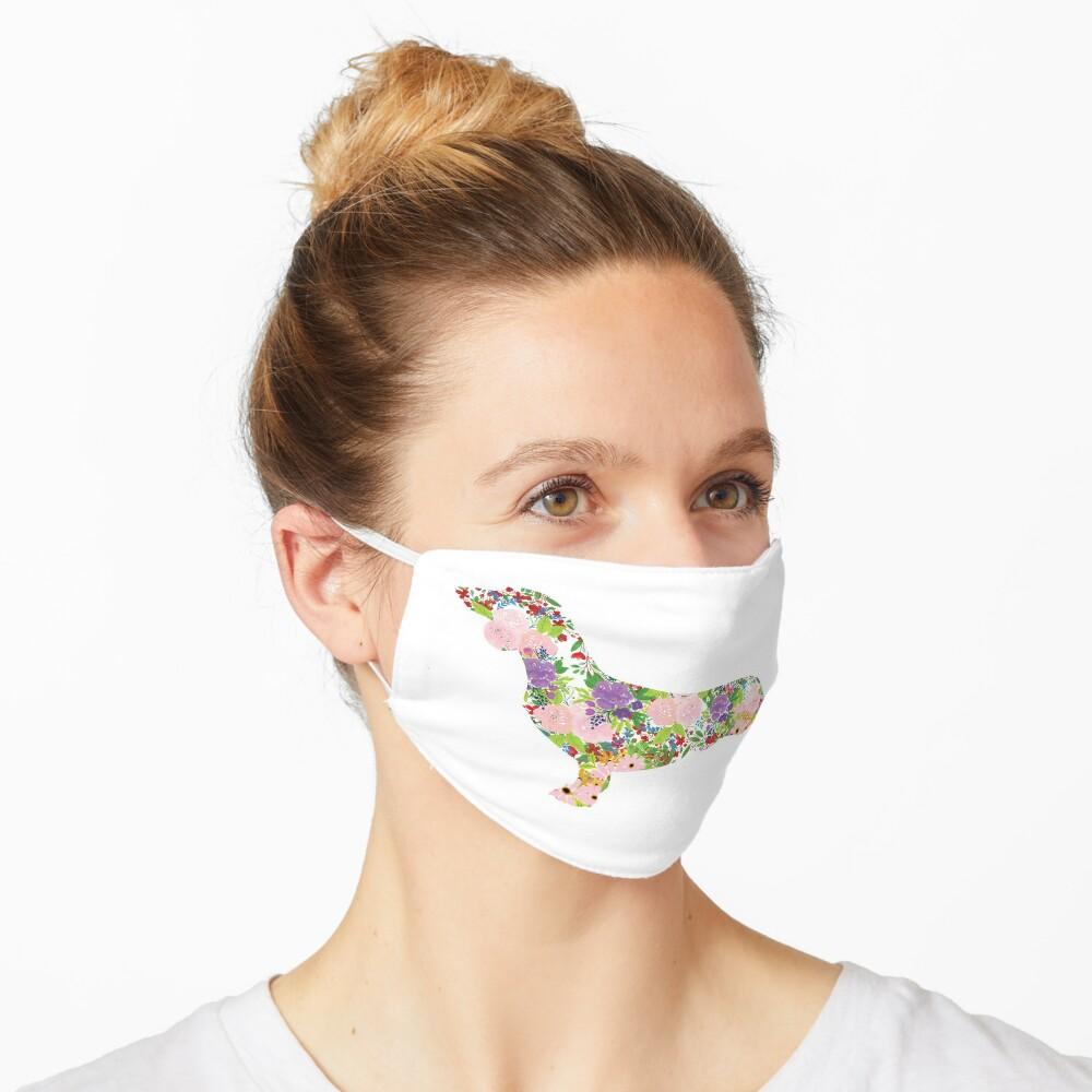 Floral Dachshund Mask
