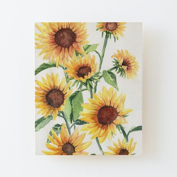 Sunflowers Wood Mounted Print
