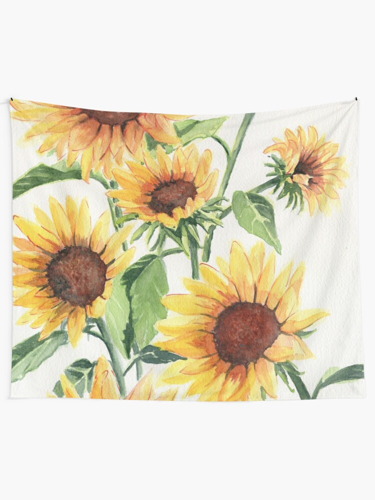 Alternate view of Sunflowers Tapestry