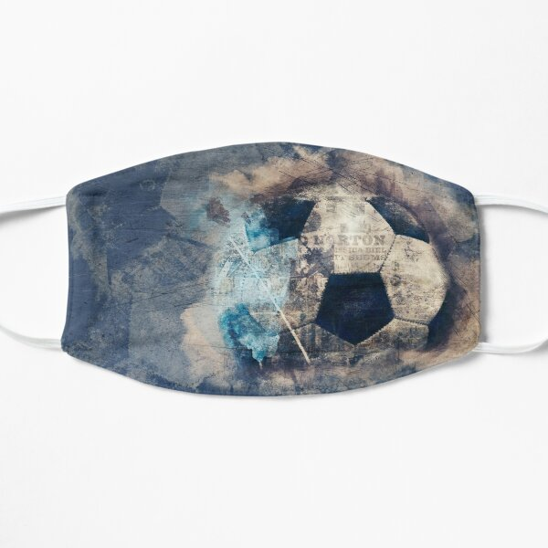 Abstract Blue Grunge Soccer Mask