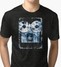 Damaged tape recorder Tri-blend T-Shirt
