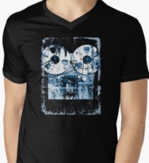 Damaged tape recorder Men's V-Neck T-Shirt