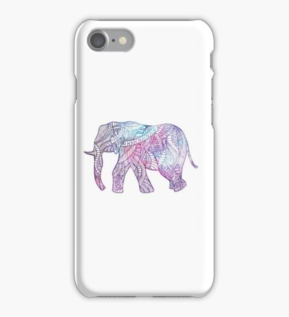 Elephant of lines iPhone Case/Skin