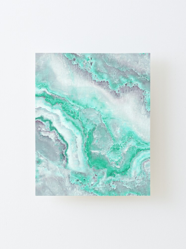 Alternate view of Luxury Mermaid Green Agate Marble Geode Gem Mounted Print