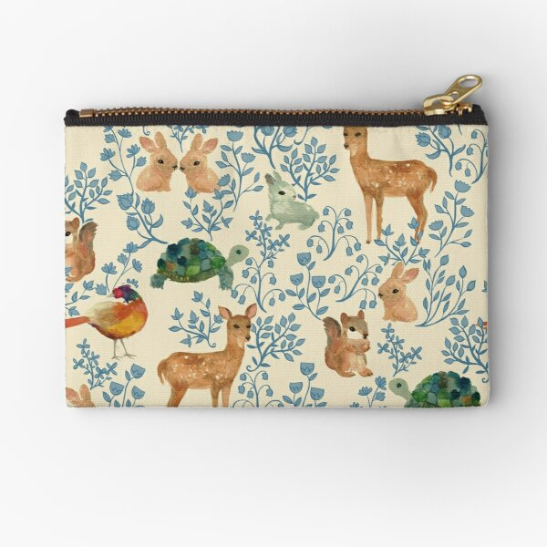 Into the Forest Woodland Animals Zipper Pouch