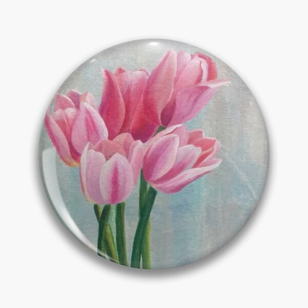 Pink Tulips - spring flowers Pin