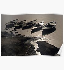 Boats in the Ganges Poster
