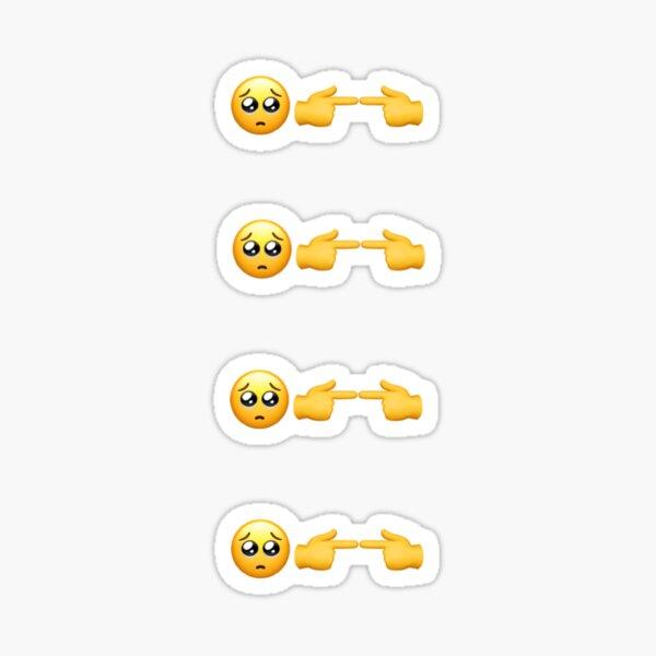 pack d'autocollants emoji timides Sticker