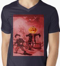 The Scarecrow (Vintage Halloween Card) Mens V-Neck T-Shirt