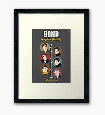 Bond, by eyebrow flexibility Framed Print