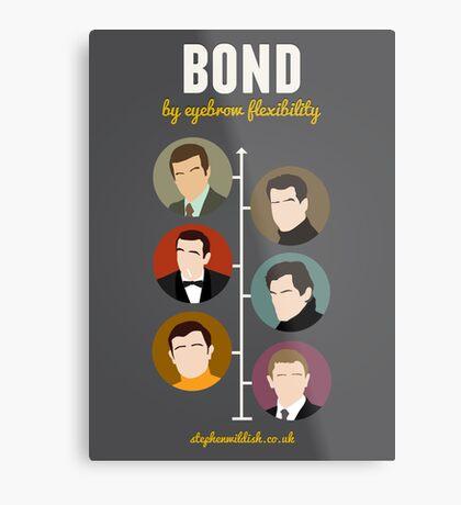 Bond, by eyebrow flexibility Metal Print