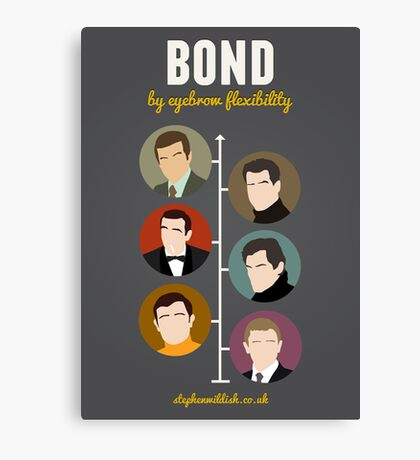 Bond, by eyebrow flexibility Canvas Print