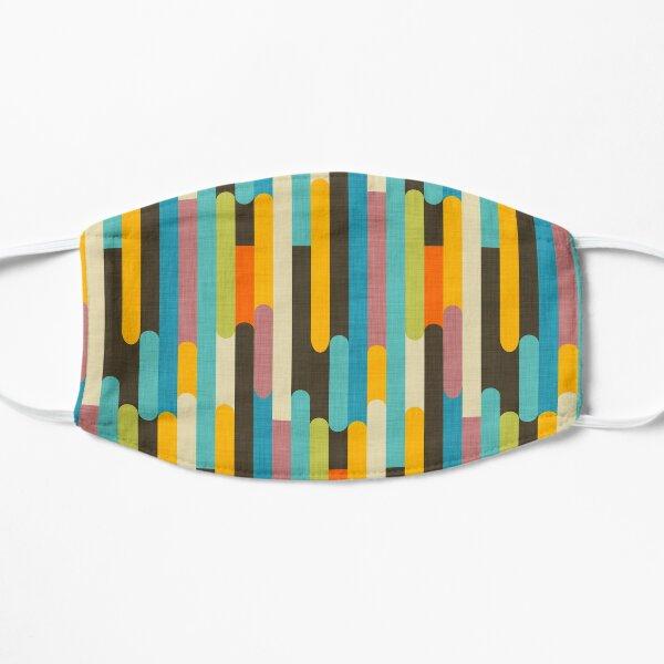 Retro Color Block Popsicle Sticks Blue Flat Mask