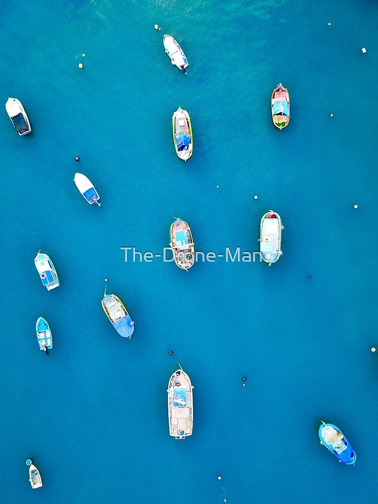 The Maltese Colourful Fishing boats in Marsaxlokk Malta by The-Drone-Man