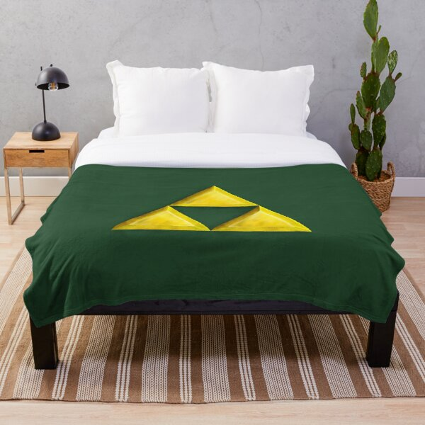 Gold Triforce Throw Blanket