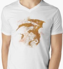 Dragonfight-cooltexture Men's V-Neck T-Shirt
