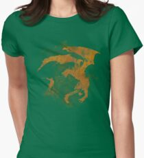 Dragonfight-cooltexture Womens Fitted T-Shirt