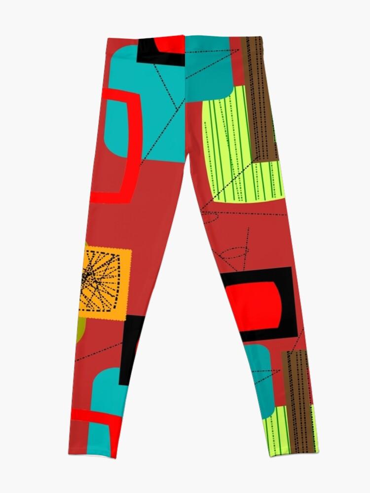 Alternate view of Mid-Century Modern Abstract Art Leggings