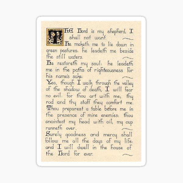 Psalm 23 KJV Sticker