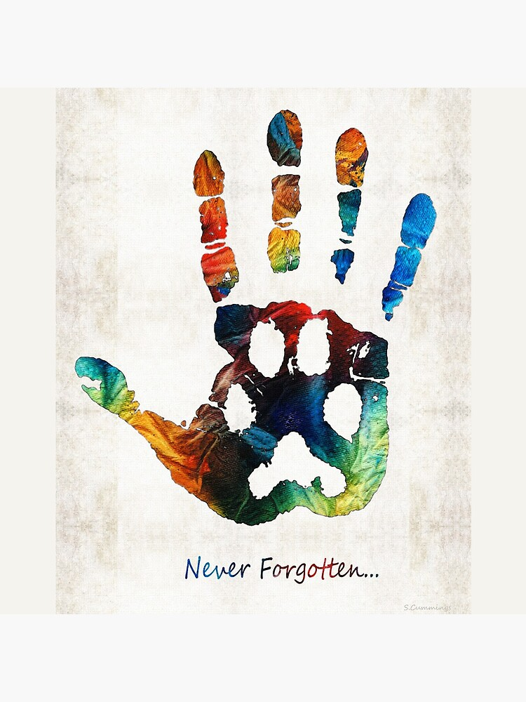 Rainbow Bridge Art - Never Forgotten - By Sharon Cummings by SharonCummings