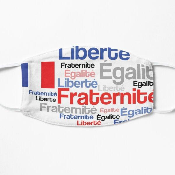 French Patriot Liberty Equality Brotherhood Flat Mask