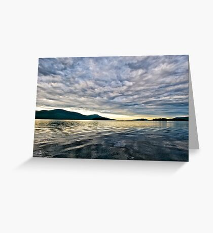 Sunrise on Lake George Greeting Card