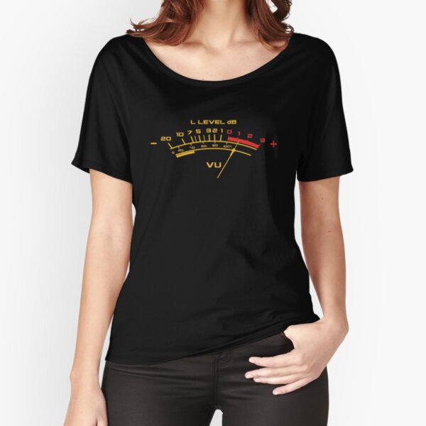 Recording Engineer Vintage Volume Vu Meter For The Music Lover Relaxed Fit T-Shirt