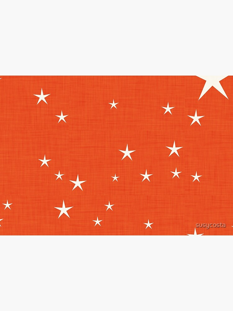 Orange star with fabric texture - narwhal collection by susycosta