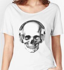 SKULL HEADPHONES Women's Relaxed Fit T-Shirt
