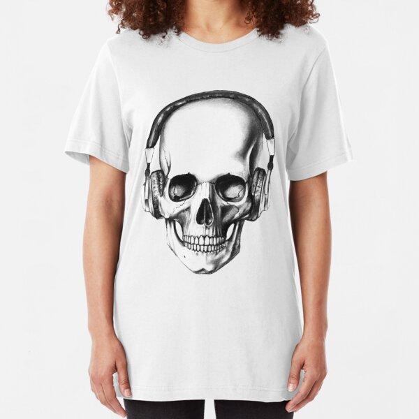 SKULL HEADPHONES Slim Fit T-Shirt
