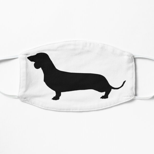 Dachshund Silhouette Small Mask