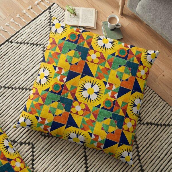 Spanish Tiles Floor Pillow